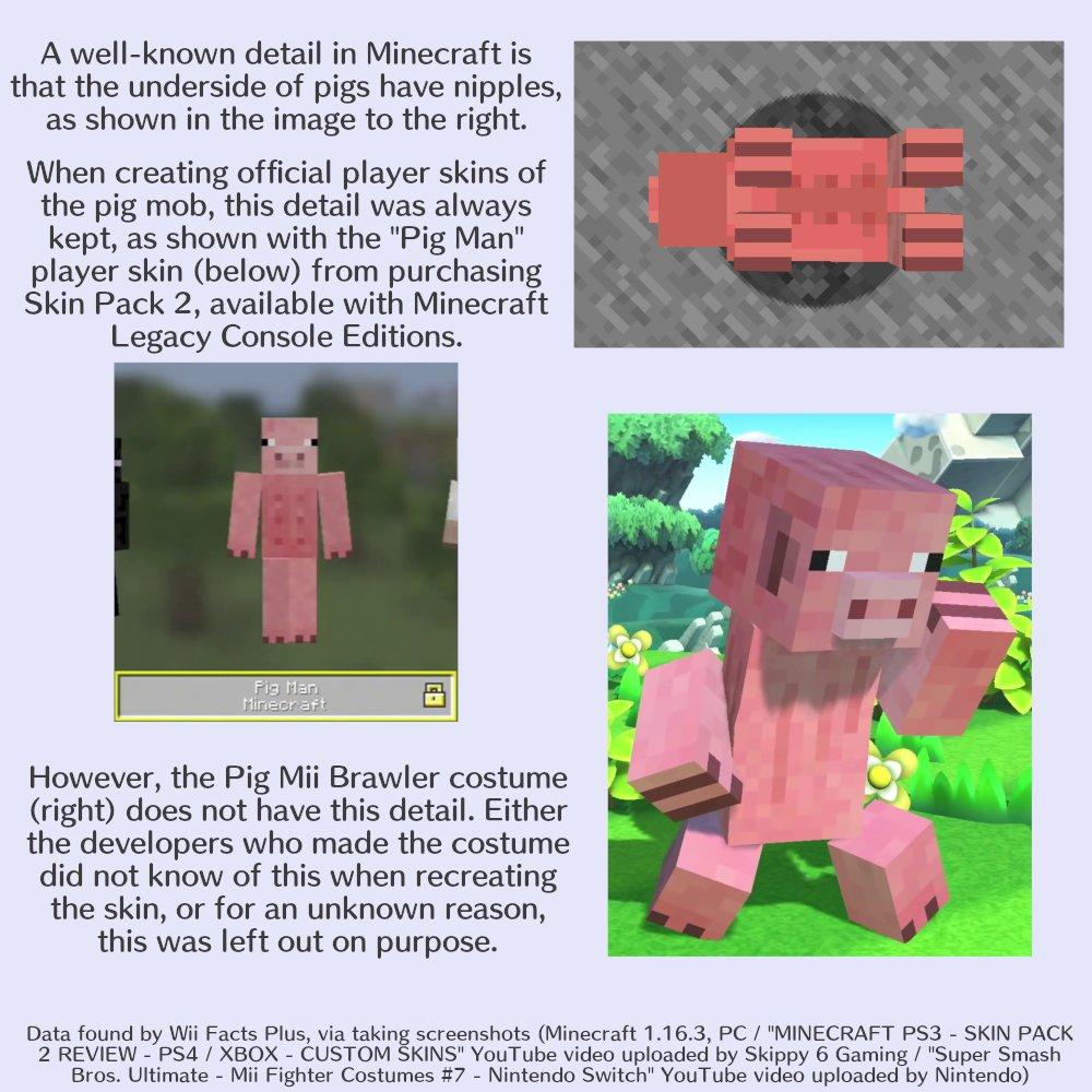 "Wii Facts Plus on Twitter: ""The Minecraft Pig Mii Brawler costume"