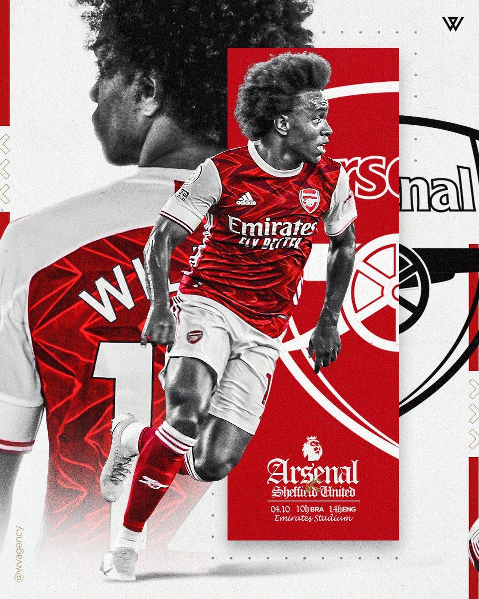 MATCHDAY! 💪 Arsenal x Sheffield United ⚽️ Premier League 🏆 Emirates Stadium 🏟 14h 🇬🇧 10h 🇧🇷  #premierleague #arsenal #ARSSHE #W12 #Gunners