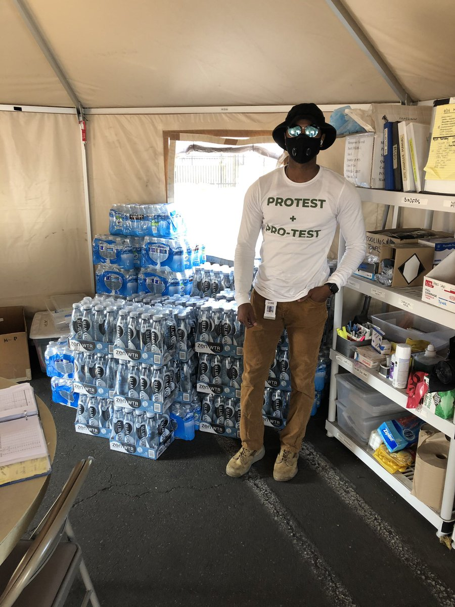 Thank you @DrinkZenWtr for donating nearly 10,000 bottles of water for our staff and volunteers! We appreciate the support.