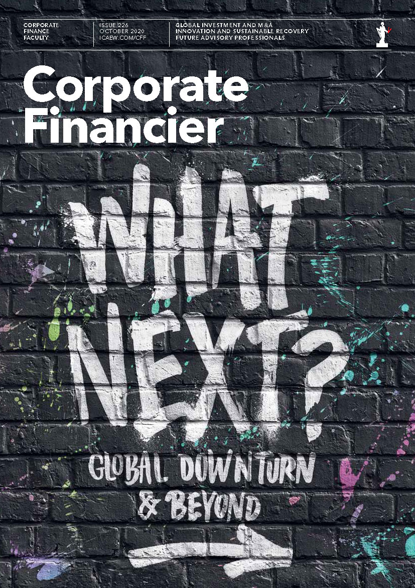 What Next? – we asked a dozen leading #CorporateFinance Faculty members about business investment, how deals are being done during #COVID19 – and about the outlook for 2021. Corporate Financier magazine, October 2020 https://t.co/L5hV9HcXch https://t.co/U5EPunk1vj