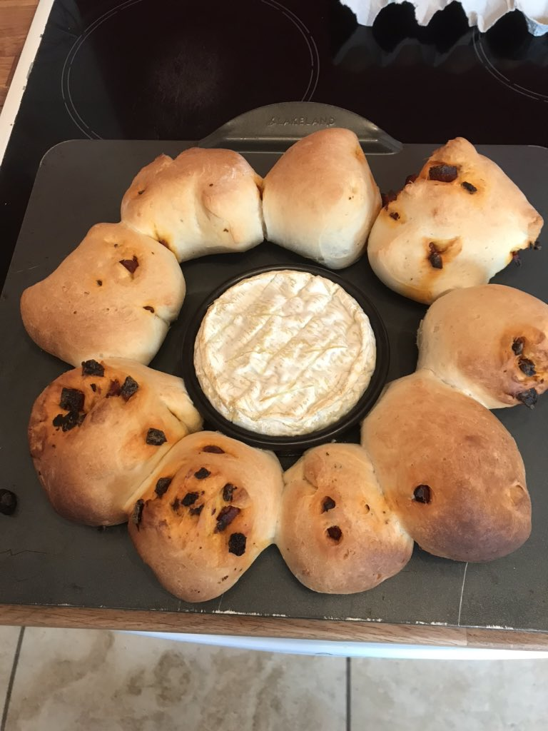 Homemade chorizo rolls and melting Camembert? Go on then...