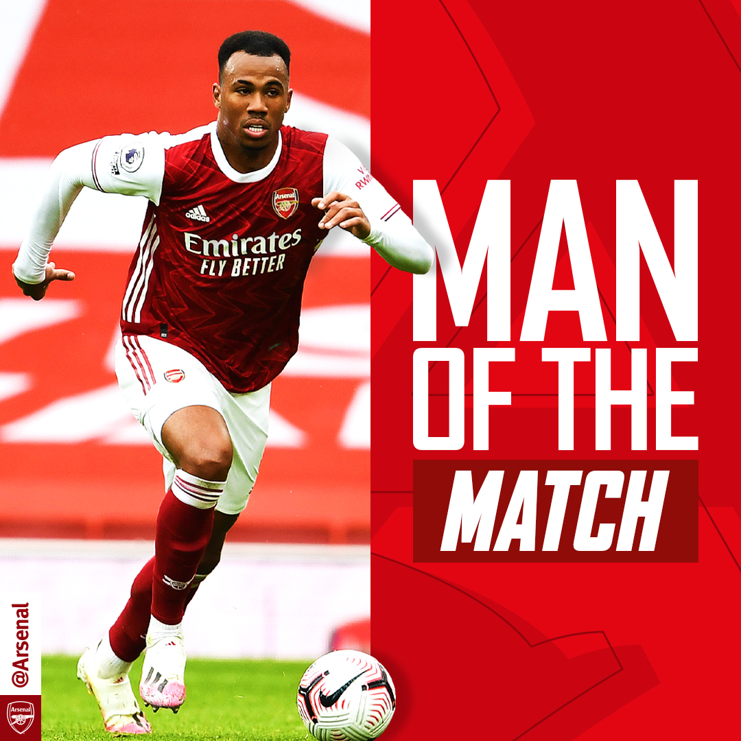 Replying to @Arsenal: Your #ARSSHU Man of the Match...  🥇 @biel_m04   Another 𝗯𝗶𝗴 performance 👏