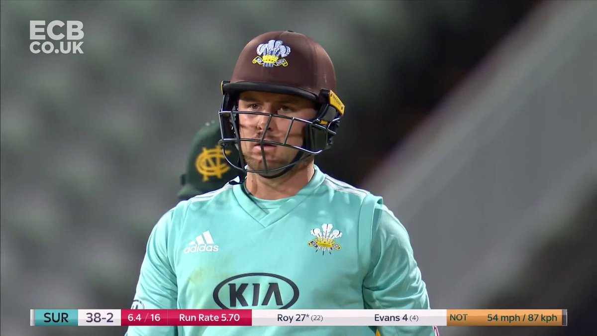 🚗 @JasonRoy20 is motoring... 👀 How many will the @surreycricket man end up with here? 👉 bit.ly/MVPBlast #Blast20 #FinalsDay