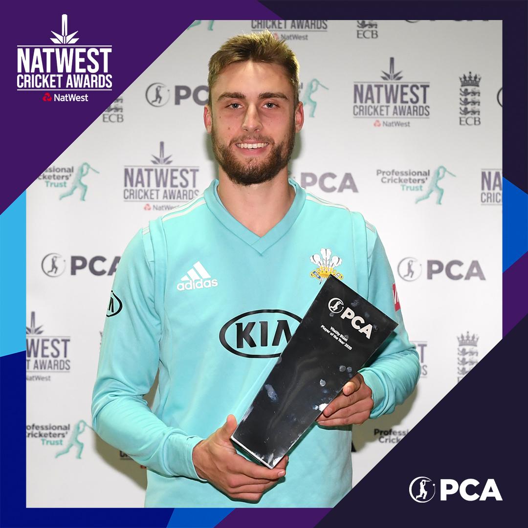 🏆 Will Jacks 🏆 👊 @VitalityBlast Player of the Year 1⃣3⃣ appearances 3⃣0⃣9⃣ runs 1⃣3⃣ wickets 🏏 Opens the batting and the bowling, a brilliant #Blast20 for the 21-year-old! 👏 Congratulations, @Wjacks9! #NatWestCricketAwards