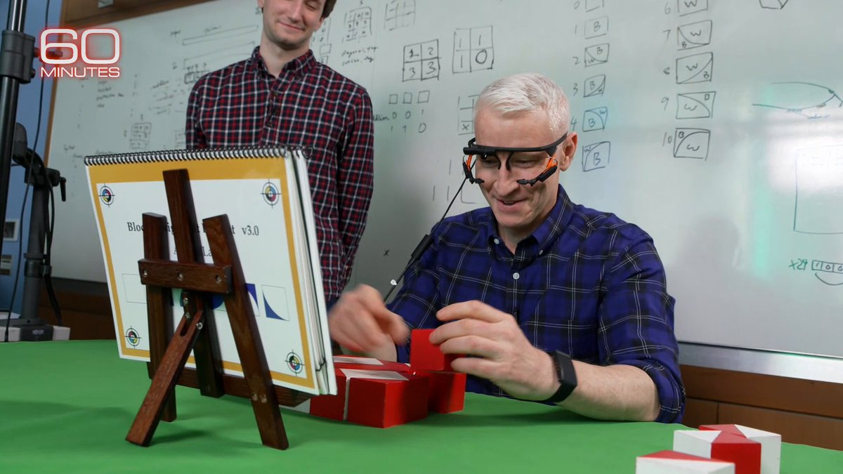 At Vanderbilt University's Frist Center for Autism and Innovation, a data scientist on the autism spectrum and @andersoncooper compare visual problem-solving abilities using a block design test.