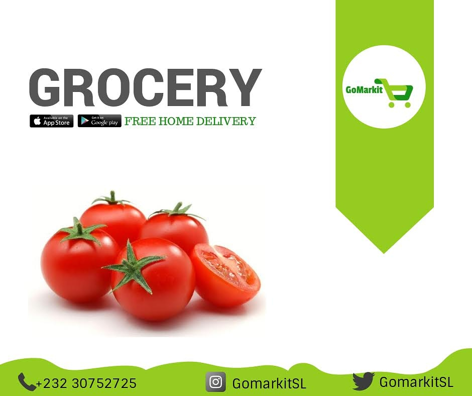 Tomato is the most underplayed vegetable. It is good for your bones, heart, digestion, skin and hair! It also has an anti-oxidant properties.    Order farm fresh and juicy tomatoes from #GoMarkitApp ➡️⬇️   https://t.co/uWtTrKUNrU  #staySafe #freetownMarket #Salone #agribusiness https://t.co/cv7x1TN7ZX