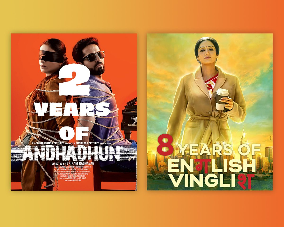I had a great time composing for English Vinglish and Andhadhun. Which songs from these films do you hear often?   #2YearsofAndhadhun #Andhadhun #8YearsofEnglishVinglish #EnglishVinglish #AmitTrivedi #AmitTrivediMusic https://t.co/ZuzP4A01zY