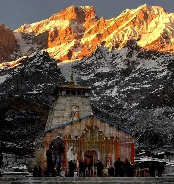 #Golden moments ❤️ #Kedarnath_Temple, #हर_हर_महादेव 🙏  #Uttarakhand #uttarakhandheaven   #nature  #हर_हर_महादेव https://t.co/GyZT1sTgLf