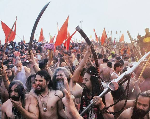 They decap!tated sanyasis and bairagis, defiled them by tieing their heads to cows. Whole city was getting destroyed, looted. Then - 4000 Naga Sadhus arrived, to save the city and temples.