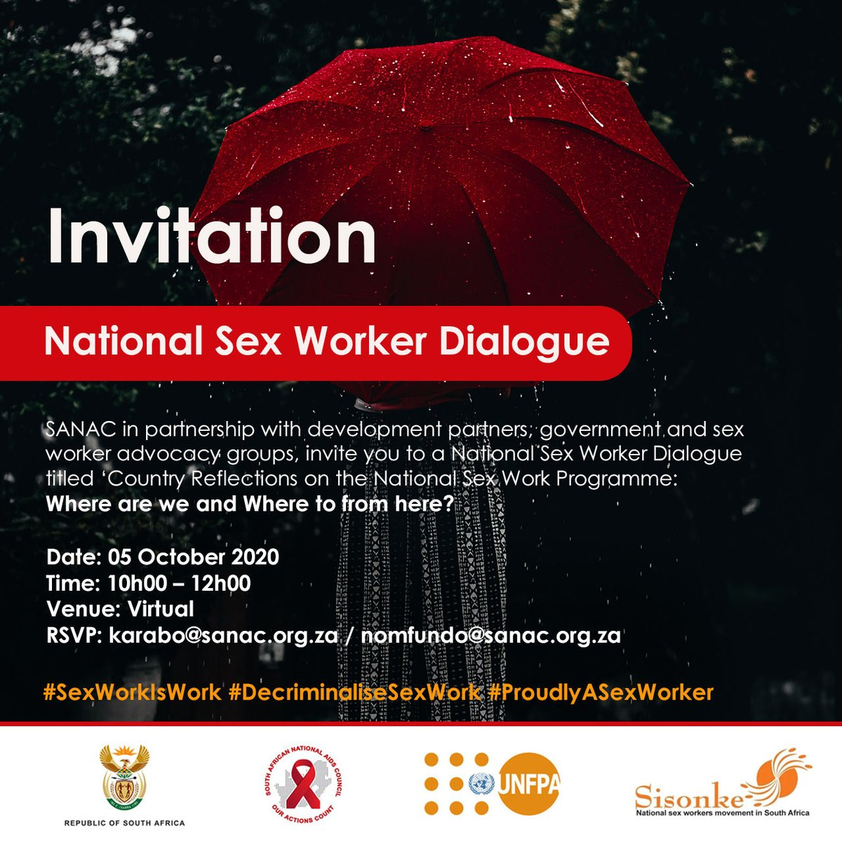 #SexWorkIsWork Kholi: law enforcement should stop using safe sex commodities such as condoms carried by sex workers as grounds for arrest or victimisation. No law stipulates that it's illegal to carry condoms, she says.