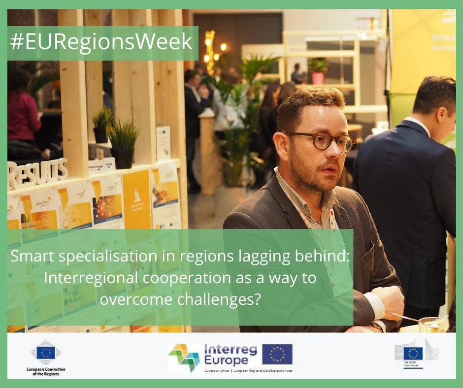 Join us and @EU_ScienceHub for #EURegionsWeek!  We'll look at the benefits & challenges of #InterregionalCooperation when implementing #SmartSpecialisation strategies. Still time to register! @S3Platform https://t.co/H7vMBcqFJ5 https://t.co/Vr9r83AsRK