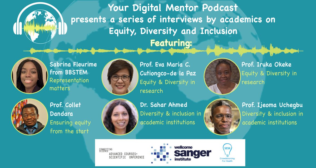 This month on, #DigitalMentorPodcast, we're celebrating #BlackHistoryMonth with a special episode:   Conversations about #equality, #diversity and #inclusion in academic research.   Listen now: https://t.co/WZRzBjQkmQ   #BAMEinSTEM #BlackinSTEM #WomenInSTEM @MinoritySTEM https://t.co/Ney9eflMCD