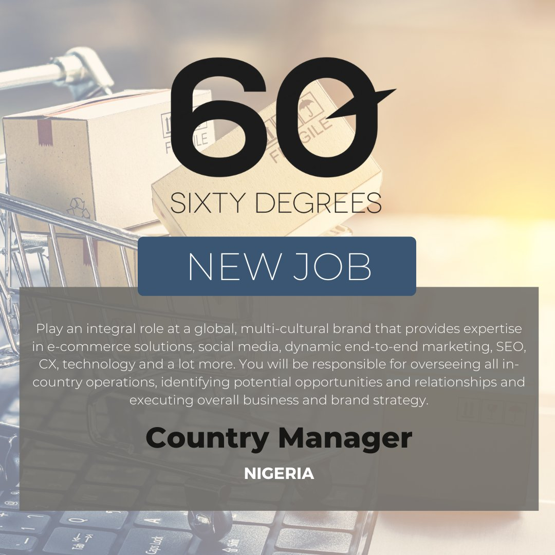 test Twitter Media - New #JobAlert - Country Manager - Nigeria  For more information & to apply, please click on the link below;  https://t.co/AnGu52vlAl  #60Degrees #60DRecruiter #60Droles #nigeria https://t.co/MC96cgkDX9