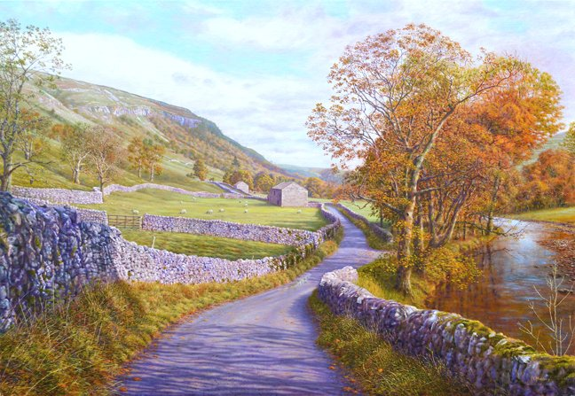 #oilpainting Limestone Country, Littondale #YorkshireDales https://t.co/2moAVYsaqt