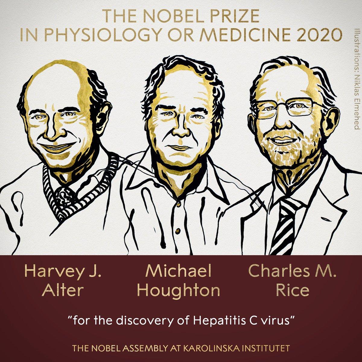 Científicos que identificaron la hepatitis C entre los ganadores americanos del premio Nobel