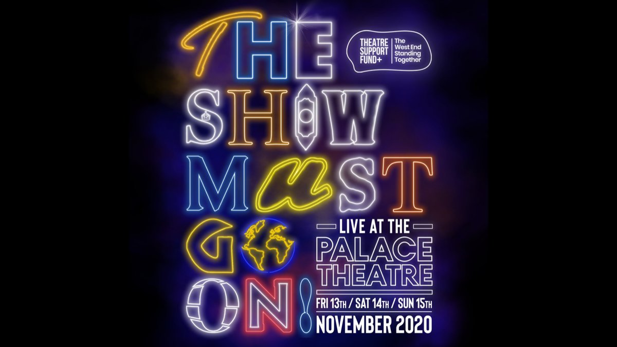 We are truly thrillified to be joining THE SHOW MUST GO ON! LIVE AT THE PALACE THEATRE this November. ✨  With all profits going to @actingforothers and #fleabagforcharity to support our wonderful industry. 💚  For more details and tickets visit ⬇️