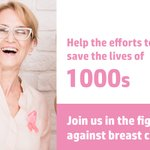 Image for the Tweet beginning: Support the fight against Breast