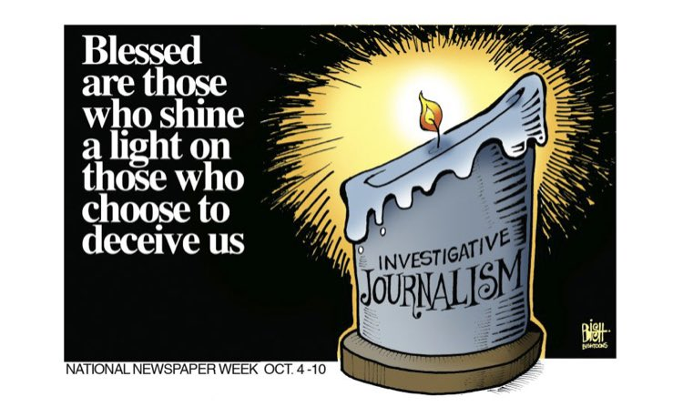 Happy National Newspaper Week to all who shine the light. https://t.co/iVWmHMOe62