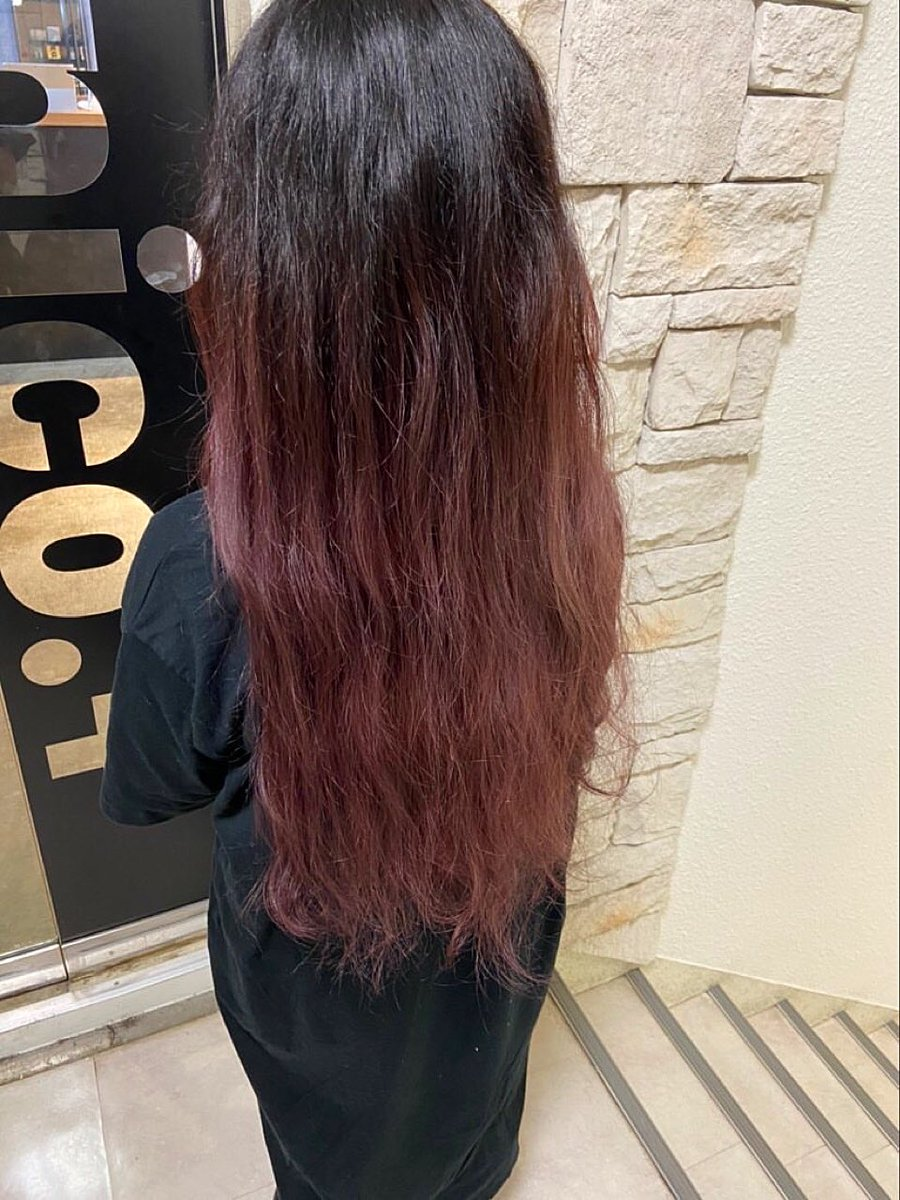 "Daiki ブリーチ専門美容師 على تويتر: ""ピンクのグラデーションカラー ..."
