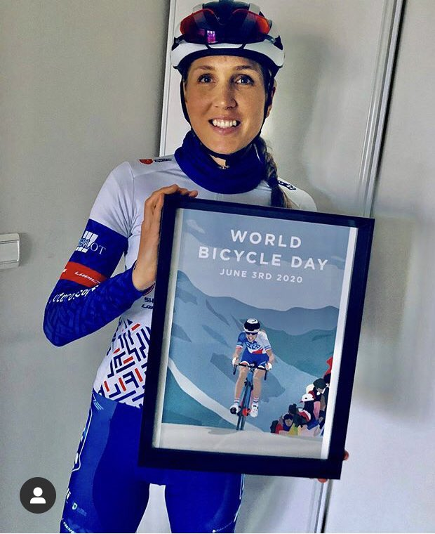 Thanks for sharing this pic @SharaGillow I'm glad you like your illustration I did for the @UCI_cycling for #worldbicycleday 😃 https://t.co/ZcccQZhrEG