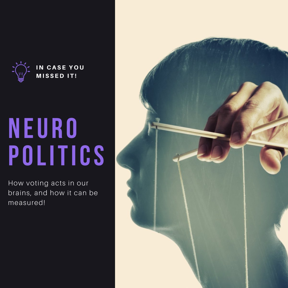 Ready for NeuroPolitics? https://t.co/nWCTsWPAOy  In case you missed our last post: what happens in the brains of voters? More relevant than ever, online voter polling can now also tap into voters' unconscious thoughts, feelings, and associations.  #neuromarketing #neuropolitics https://t.co/PWYUl962yY