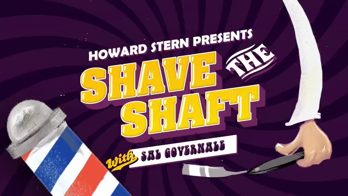 Tune in as @salgovernale attempts to #ShaveTheShaft right now on #Howard100! #Cocktober