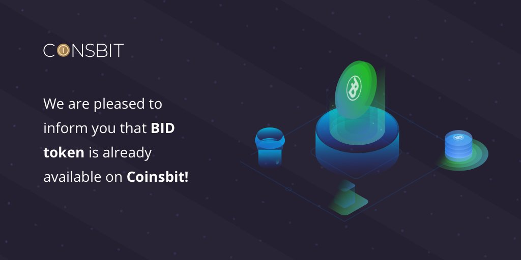 Thank you @c0insbit for listing Bidao 🥳