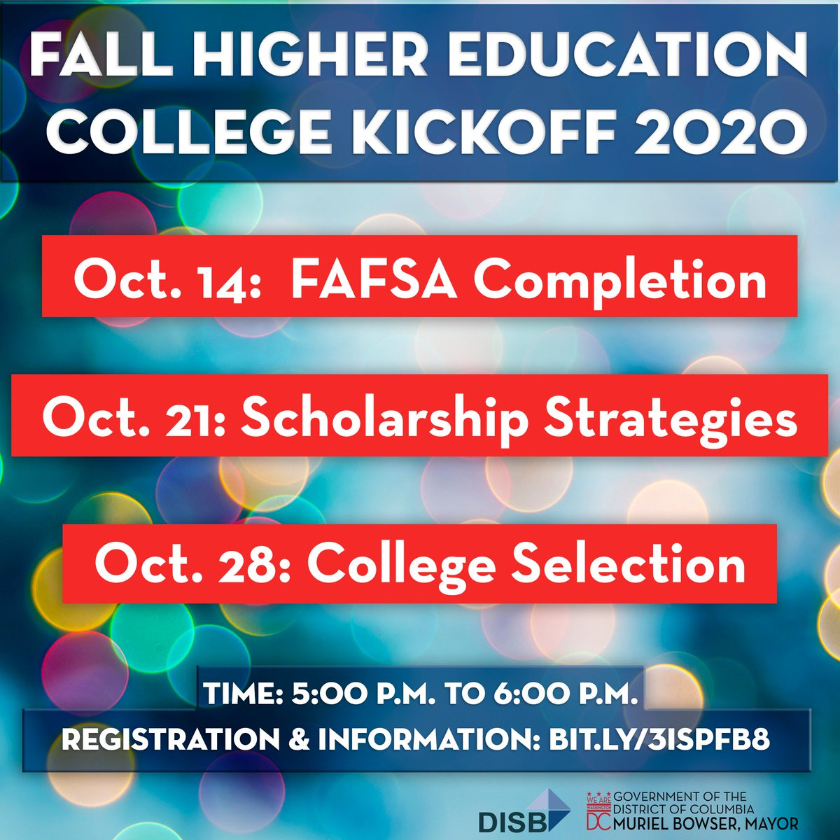 This fall make distance learning a little easier. Attend our higher education webinars and get ready for a better 2021! Oct. 14 - FAFSA Completion Oct. 21 - Scholarship Strategies Oct. 28 - College Selection 👉 all sessions: 5-6 p.m. 👉 registration: https://t.co/6jZFxxQQNb https://t.co/8tVZYts0Zw