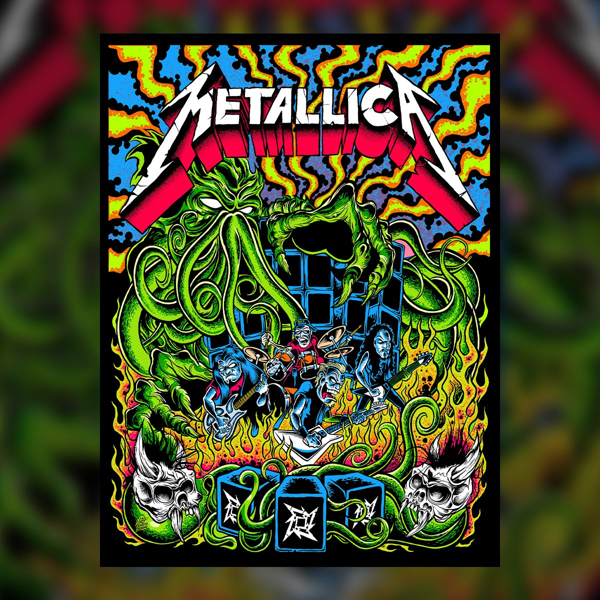 Coming Thursday at 1 PM PDT to the Met Store: New art from our friend @dirtydonnyart! His blacklight reactive poster is limited to 500 prints and will be gone quicker than a pinball down the drain.  Also available at the @probitymerch UK/EU shop and on Donny's website. https://t.co/La1fL9Y2MP