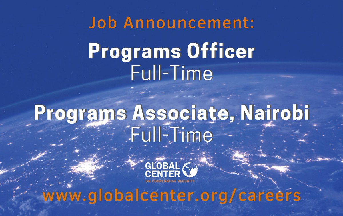 We have openings for two full time positions with @GlobalCtr! Join our team and help us achieve our mission of a more #just and #secure world! More information and additional details for both positions here: https://t.co/Y7qFLs2pRL https://t.co/Dt1kJnaHxZ