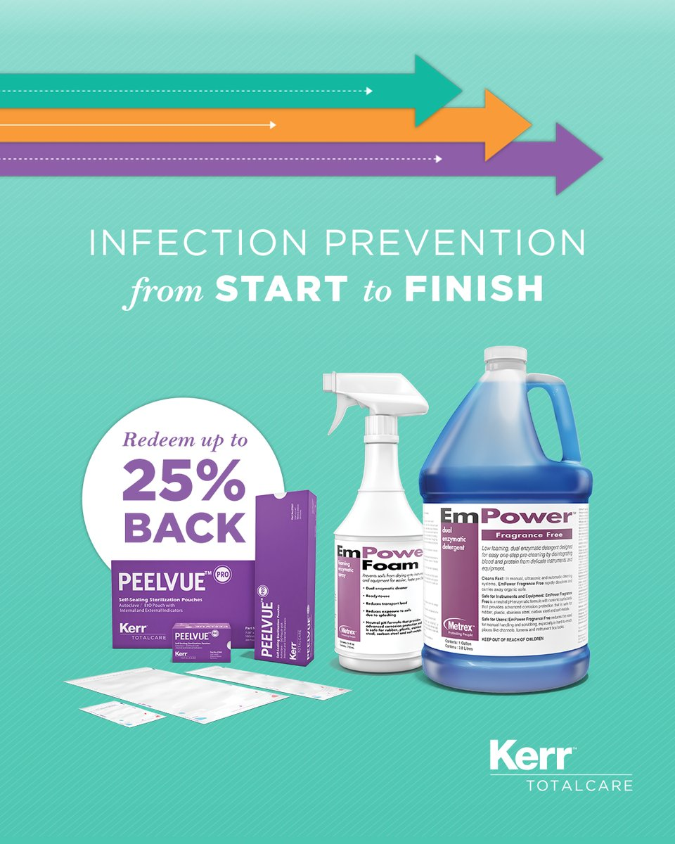 Want to earn up to 25% back on instrument reprocessing supplies? Take charge this flu season and contact your local sales rep today! https://t.co/RSYsXVpGqN