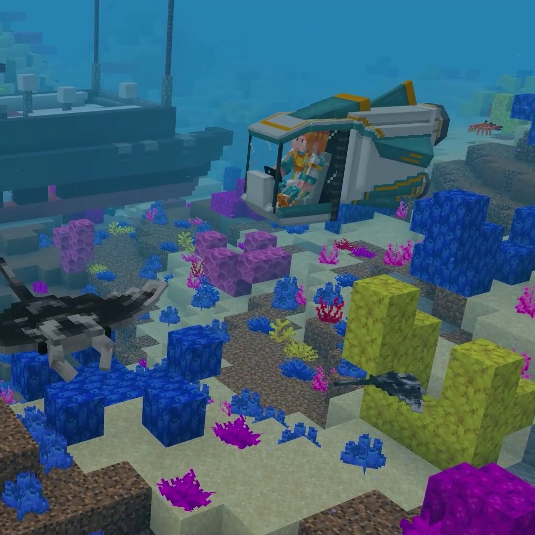 ICYMI on @MinecraftMarket: Ocean Wildlife Explorers by Everbloom Games. Can you help save the seas? Become an ocean researcher, learn about sea creatures and help clean up the oceans – but remember to keep an eye on your oxygen level! ↣ redsto.ne/oceanwildlife ↢