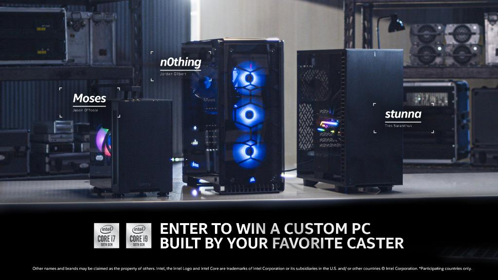 We worked with @n0thing, @stunna and @MosesGG to build these custom 10th Gen powered PCs and you can win one!  Enter for your chance to win:  https://t.co/VFuFzeiPZ2  (US & CAN Eligible, excl. Quebec) https://t.co/q0aoSropyj