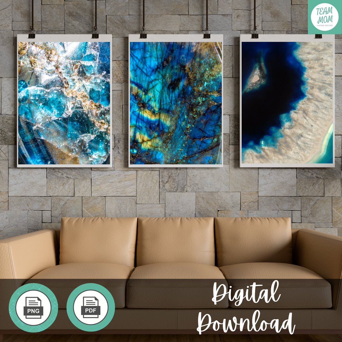 Beautiful art does not have to be expensive. These printables are only $5.20. Download, print and frame!  https://t.co/NLdWQspFhR  #geodeart #printables #unframed #blueagate #bluegeode #blueart #livingroomart #printableart #walldecor #decor #art #download #bluegold #goldart #blue https://t.co/ELt0BAtMT7