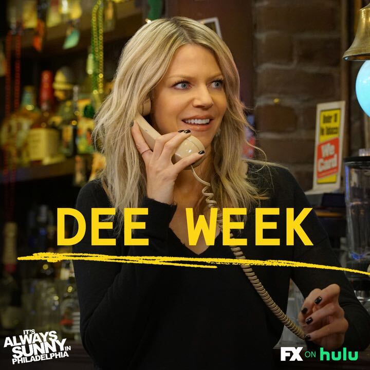 Dee! Dee! Dee! Let's get a chant going because this week we are going to celebrate Deandra Reynolds. #SunnyFXX #DeeWeek
