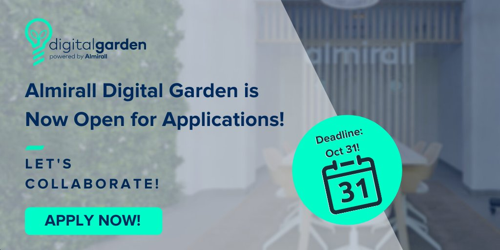 Attn #Startups! 2nd Harvest for @almiralldg #accelerator is now open for applications!  Partner w/ great innovators & pioneers in the #digitalHealth & #dermatology space. Don't miss out!  Apply now by Oct 31! https://t.co/qCpVKIze9u  #biotech #Innovation #digitalhealth @health_xl https://t.co/Vjw3cTBk1z