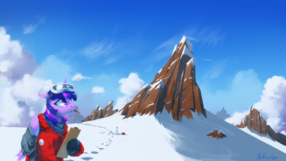 Equestria's arctic research division. Painted some rocks I guess.