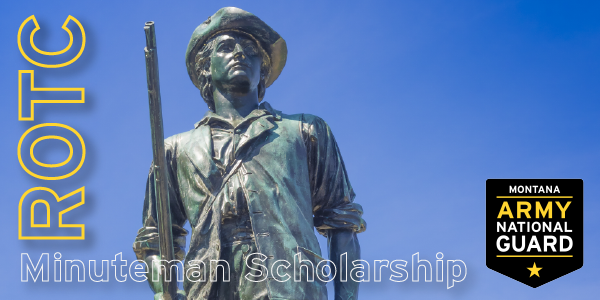 Recipients of #ROTC's Minuteman Scholarship will receive either 100% Tuition Assistance plus fees or $10,000 per year and $1,200 towards books annually.  Upon graduation, they will commission into the National Guard.  To find out more visit:
