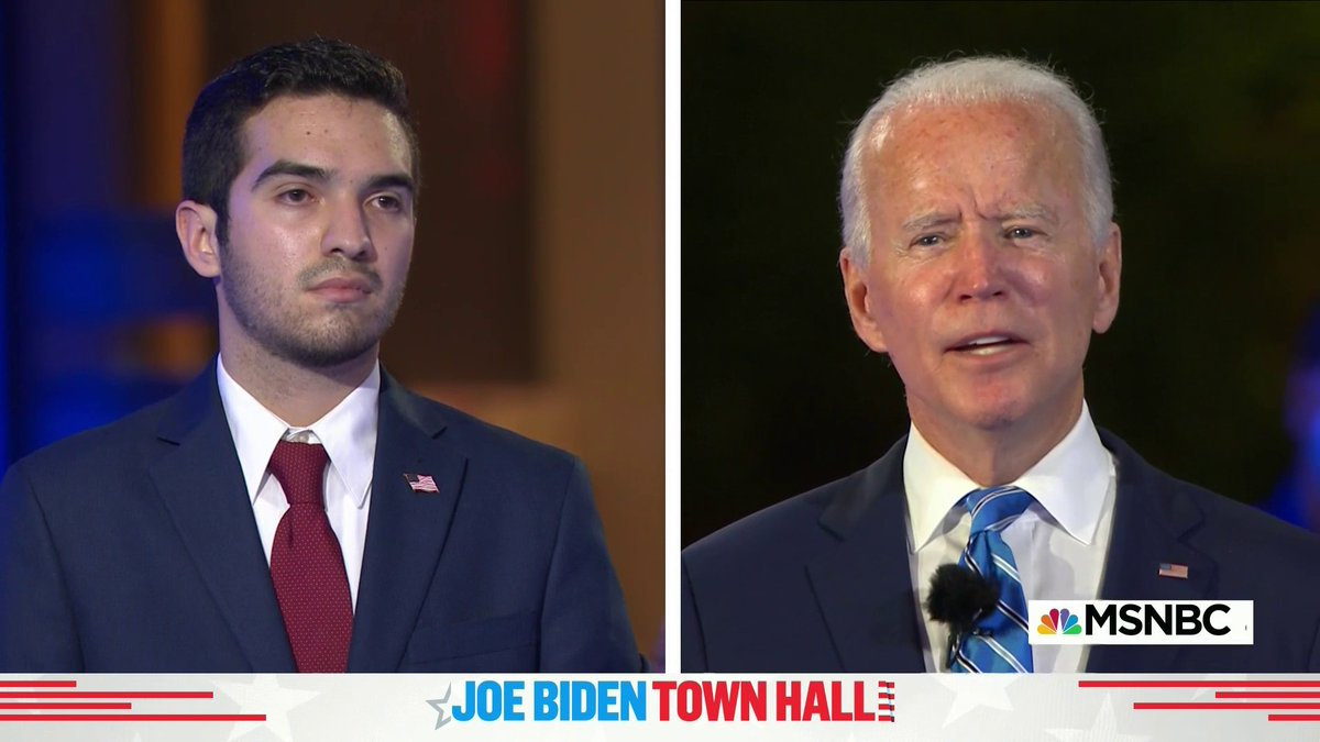 """Joe Biden on Gen. Z: """"You're the best educated. You're the most open. You're the least prejudiced generation in American history. The future is yours and I'm counting on you."""" #BidenTownHall"""
