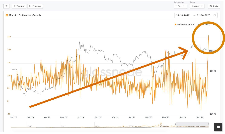 Počet nových bitcoinových adres se rychle zvyšuje navzdory poklesu cen