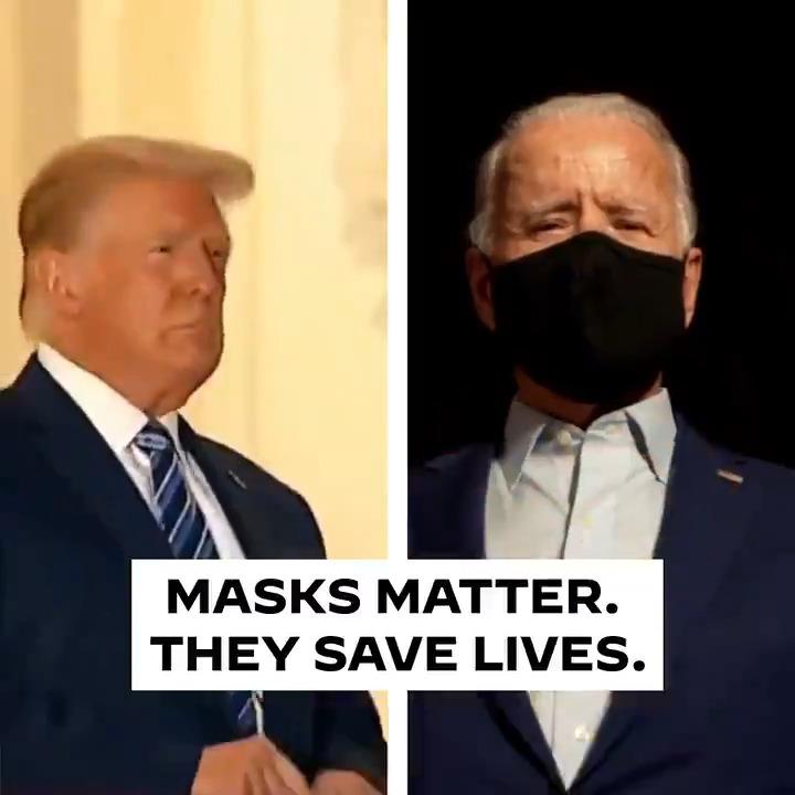 Replying to @JoeBiden: Wear a mask.