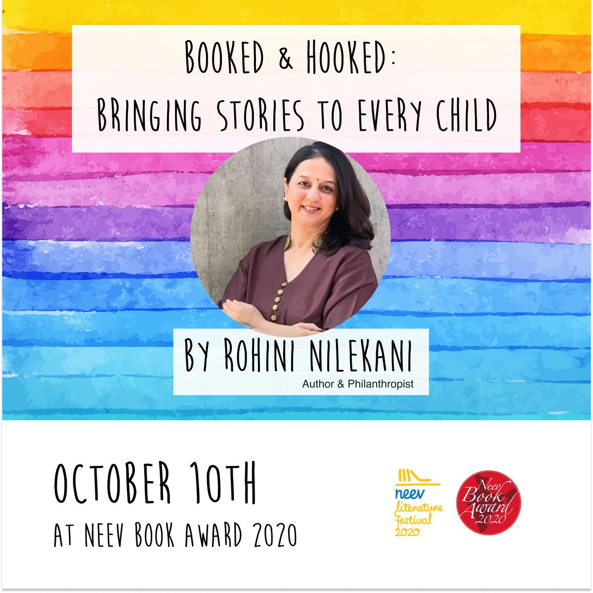 Join Rohini Nilekani, Author & Philanthropist in the keynote address — Booked and Hooked: Bringing Stories to Every Child on October 10 at 10.00 am IST (GMT +5.5)  Register here https://t.co/HVnz09qKks   #NLFOnline #NLF2020 https://t.co/GduCjAmX0U