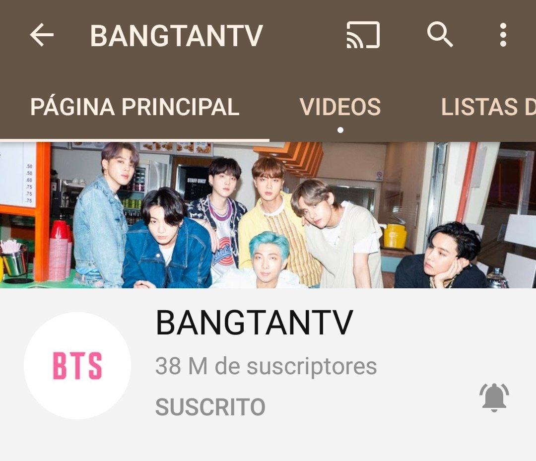 [INFO]  El canal oficial BANGTANTV en YouTube ha superado los 38 millones de suscriptores de YouTube🎉  @BTS_twt #BTS #방탄소년단 #ARMY #JIMINMéxico  𝒥𝒫𝒶ℴ🍑 https://t.co/zgytrsowlF