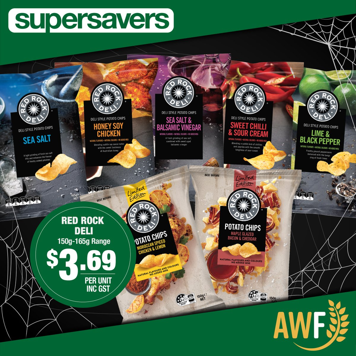 Red Rock Deli available in this months Spooky Savers for $3.29! View it online: https://t.co/4JQiBKD4hX ------------- 📞 Call us: (08) 9041 1424 📧 Email: sales@allwaysfoods.com.au #supersavers #AWF #AllwaysFoods #warehouse #merredin https://t.co/CdsQuZV1ru