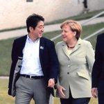 Image for the Tweet beginning: 本日メルケル独首相より電話を頂きました。メルケル首相とは第一次政権以来25回の会談を通じ信頼関係を築いてきました。首相から「13年前のハイリゲンダムサミットでの会談以来、年月を重ね日独に二人で虹を架けた」との発言があり感慨深いものがありました。アンゲラの友情に感謝します。