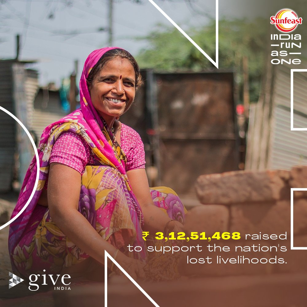 We have crossed the ₹ 3 crore mark and it's all 𝗬𝗢𝗨. 🙌🏻  A huge thank you to everyone who has taken a step towards upliftment of livelihoods and sown the seeds for a better future of millions.   #SunfeastIndiaRunAsOne #LivelihoodsMatter