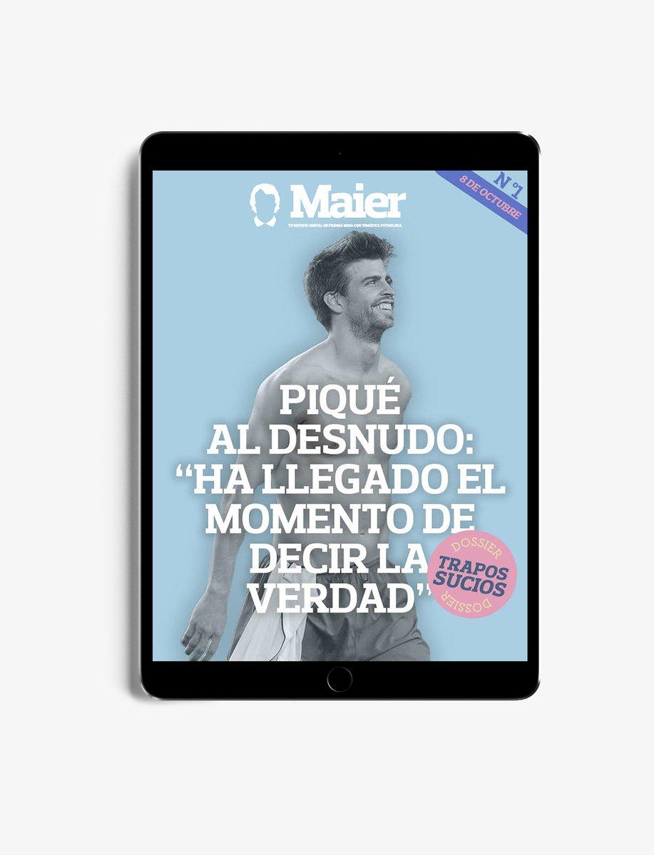 La cultura futbolística está bien, pero no da para comer.   Después de tantos años, es hora de reinventarse.   Nace Maier. El lado rosa del fútbol por fin tiene su revista.   #LlegaMaier8oct