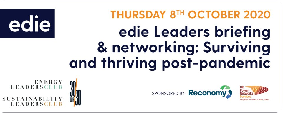 Join @edie Leaders virtual briefing & networking tomorrow where companies such as @Tesconews, @BritishSugar and @nestle will be sharing their experiences on surviving and thriving post #covid19 #pandemic. https://t.co/8AJmY6tYNL https://t.co/C3fiioCwNh