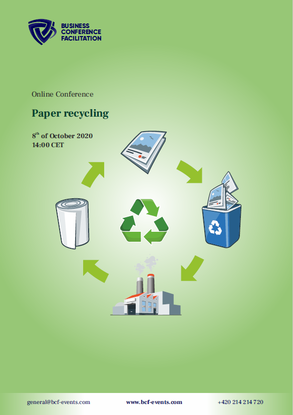 Today's #Paperrecycling conference will give you the unique opportunity to discuss the most pressing issues of #recycling and meet experts from all around the world. @WilksLIZ from @AsiaPulpPaper will be presenting from Resource to Recycle. Register at https://t.co/iFTFAzCUyB https://t.co/QQy9LXngYz