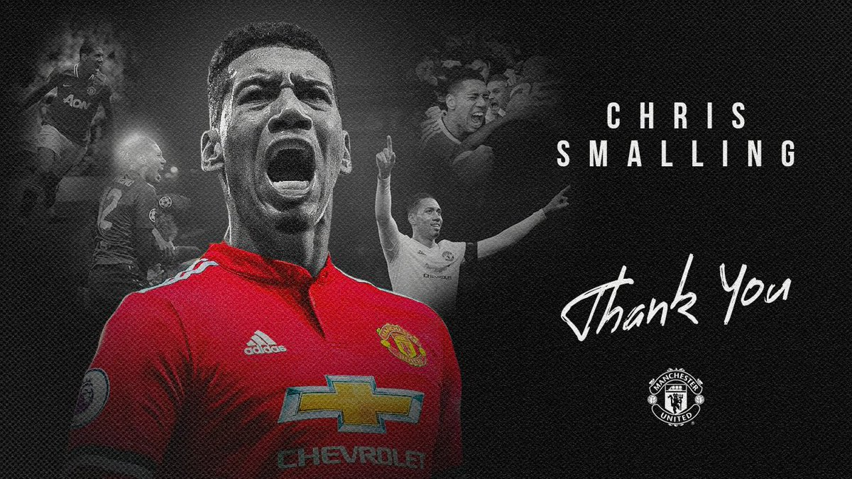 Always hard-working, always passionate, always a 𝐑𝐞𝐝.  Thanks for everything, @ChrisSmalling ❤️  #MUFC https://t.co/VVbrupIrJy